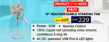 """AKAI STAND FAN 18"""" RECHARGEABLE EF087A-8028R"""