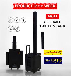 Akai Adjustable Trolly Speaker Rechargebale